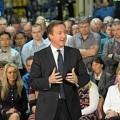 Log4 Premier David Cameron w fabryce wózków widłowych Hyster