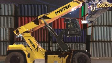 Hyster zaprezentował innowacje dla terminali śródlądowych na konferencji TOC Europe